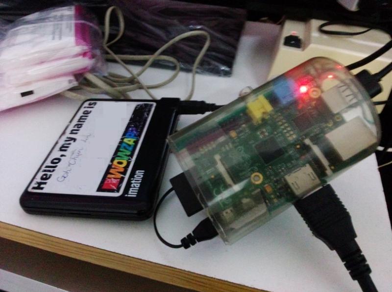 A closer look of my Raspberry Pi.